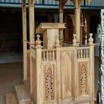 Mimbar Kayu Furniture Minimalis Arabic