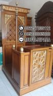 Mimbar Jati Furniture Minimalis Arabic