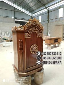 Mimbar Furniture Minimalis Kaligrafi Arab
